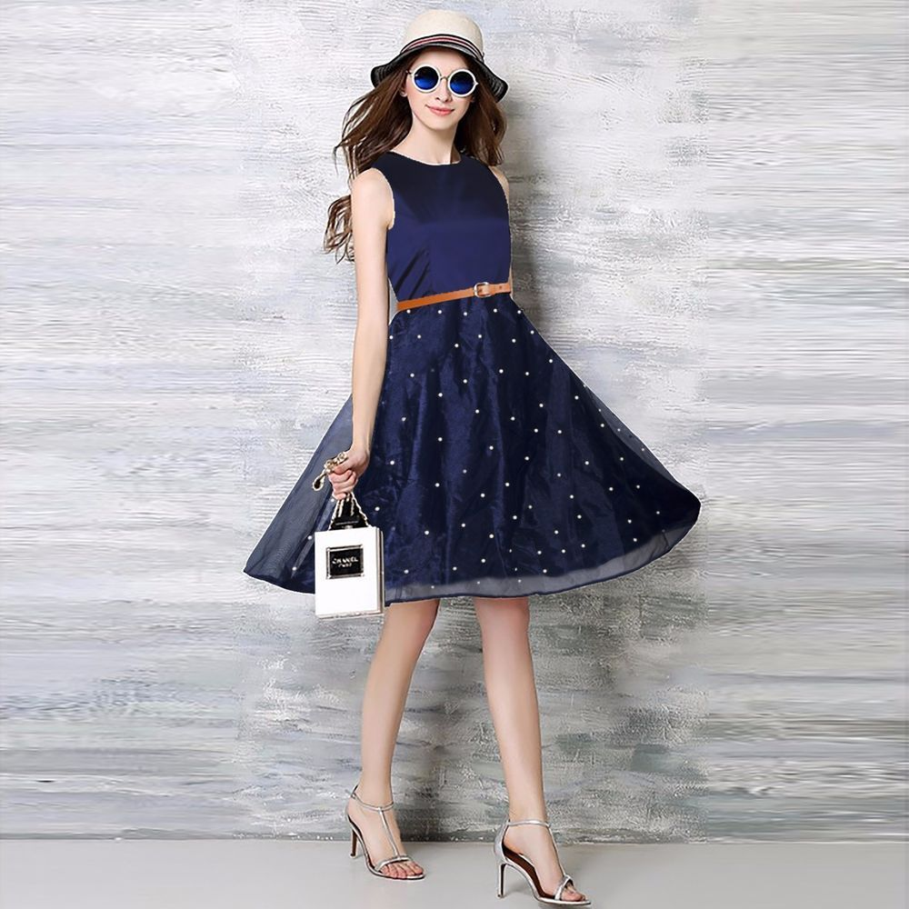 Bollywood New Fancy Party Wear Stylish Designer Western Kurti Dress With Belt Ebay Casual Dress Outfits Casual Dresses For Teens Fashion Dresses Casual [ 1000 x 1000 Pixel ]