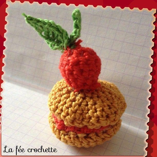 #macaron #cerise #crochet #serialcrocheteuses #dinette #Padgram