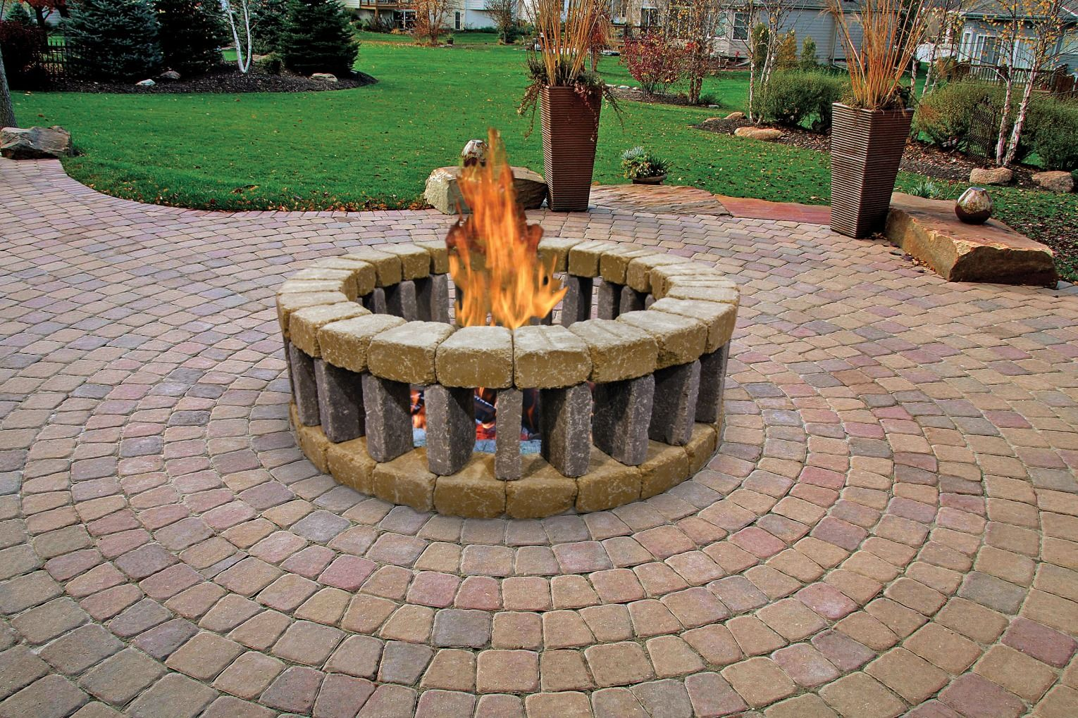 fire pit menards relax outside around the belgian ring constructed of 10867