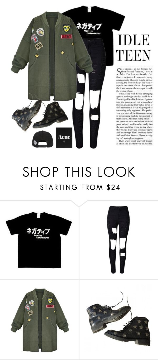 """""""~"""" by jovanax97 ❤ liked on Polyvore featuring A.H.O Laborator, WithChic and Yves Saint Laurent"""