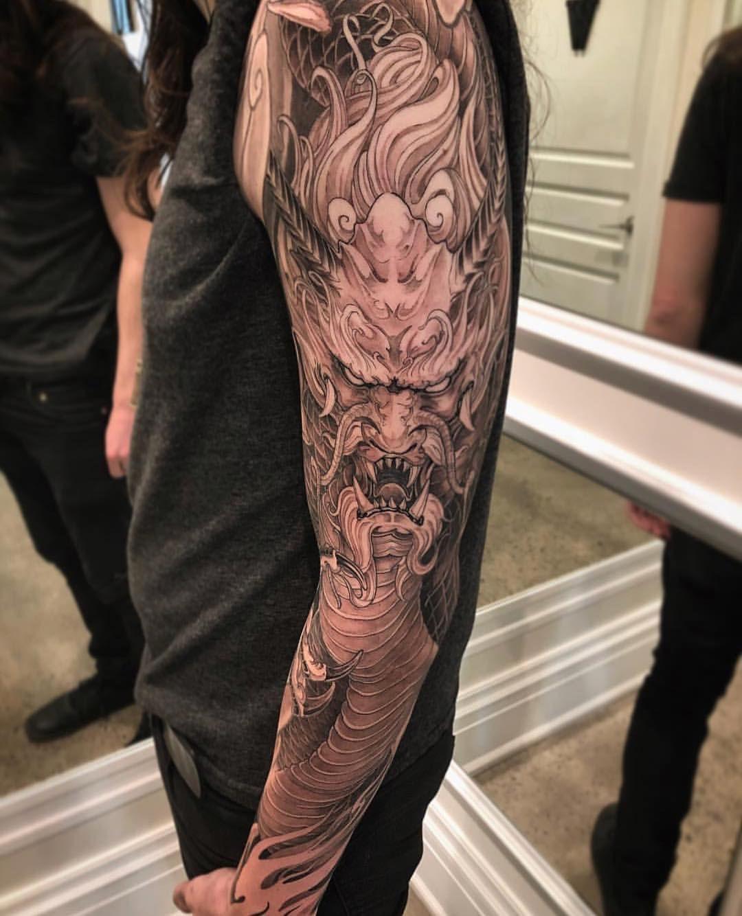 Chronic Ink Tattoo Kitsilano Vancouver Dragon Sleeve By Truong87 Yaponskie Tatuirovki Drakona Tatuirovka Na Ruke Yaponskie Tatuirovki