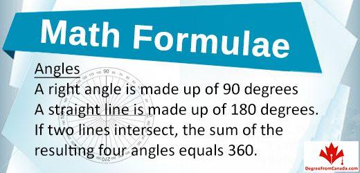 #MathFormula #Mathformulae Angles Via DegreeFromCanada
