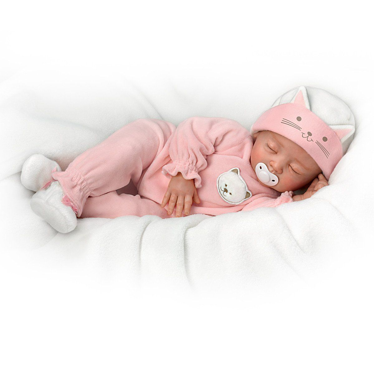 Amazon Com Katie My Sweet Little Kitten So Truly Real Lifelike Baby Girl Doll By The Ashton Drake Galleries Baby Girl Dolls Life Like Baby Dolls Baby Dolls