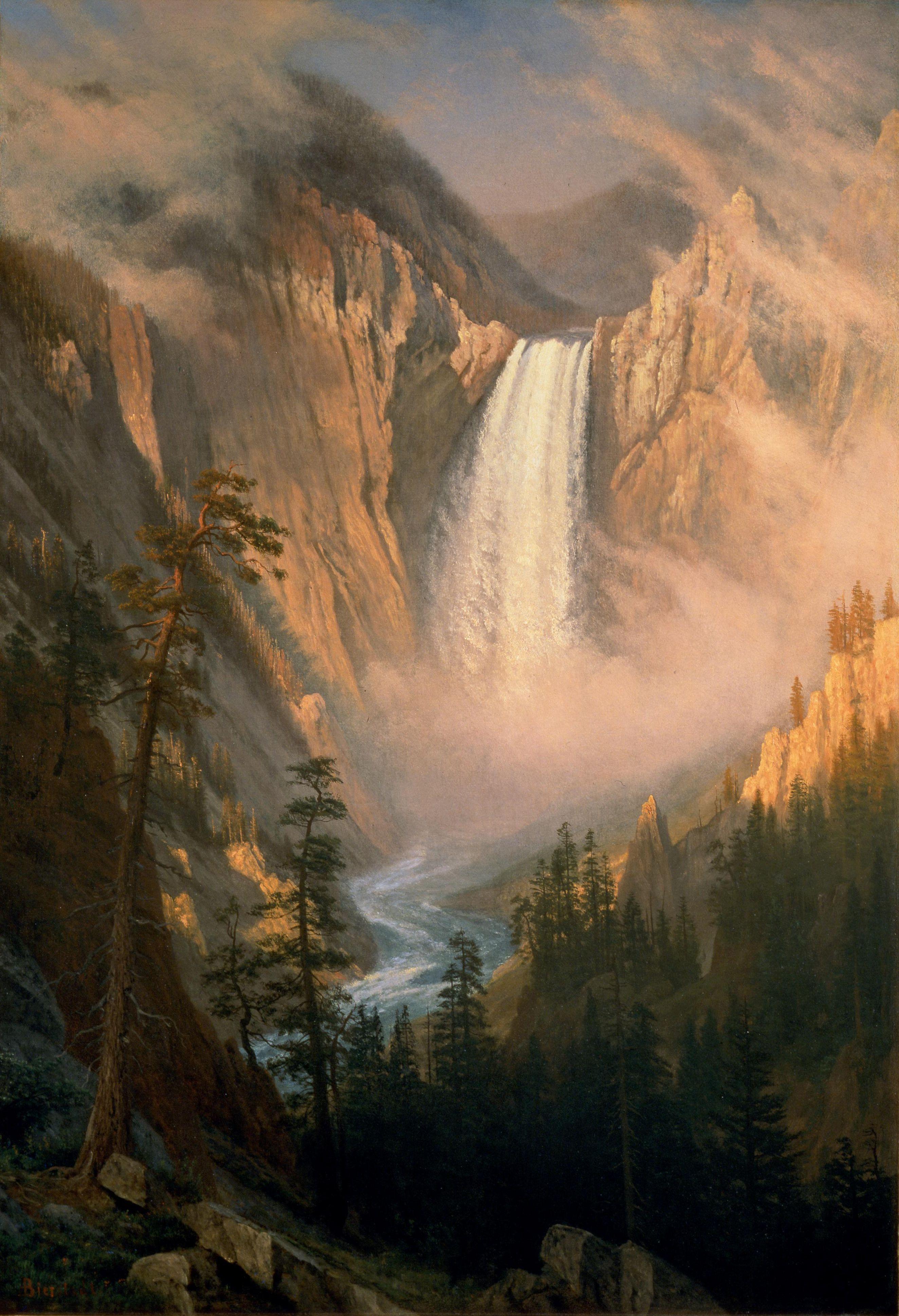 Yellowstone Falls, Albert Bierstadt, 1881 Albert
