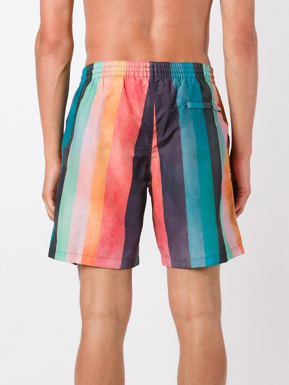 c0dfb480aa Paul Smith Men's 'Artist Stripe' Print Swim Shorts. | dapper ...