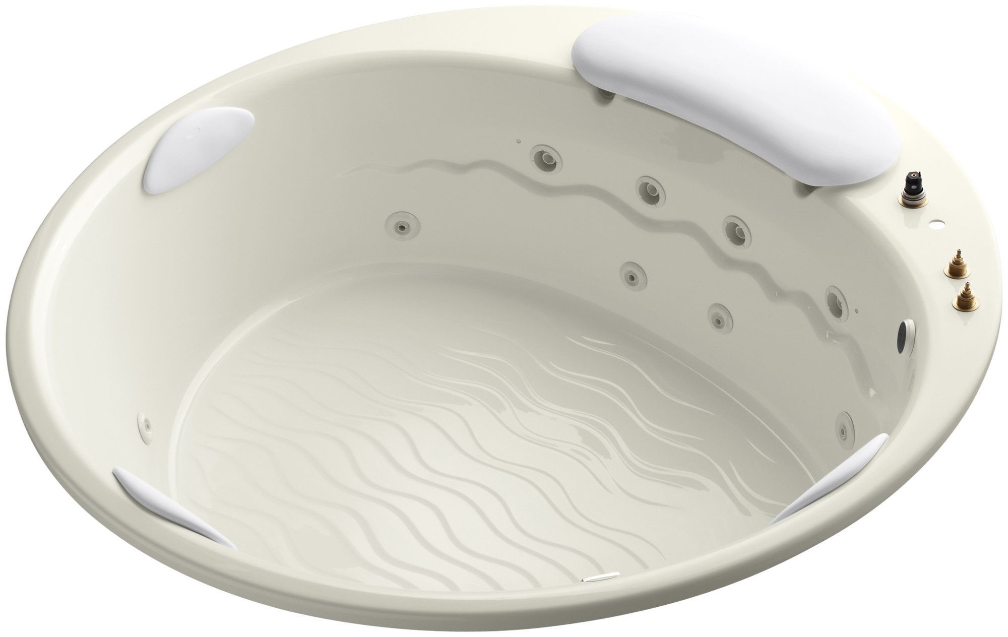"""Riverbath 75"""" Drop-In Whirlpool with Heater Without Jet Trim"""