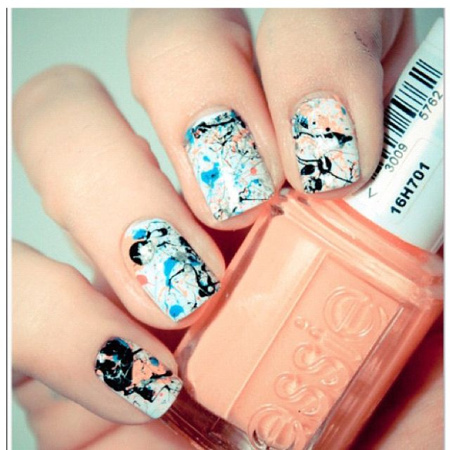 Nail Art Base Coat Is An Opaque Color Than Go Nuts With Various