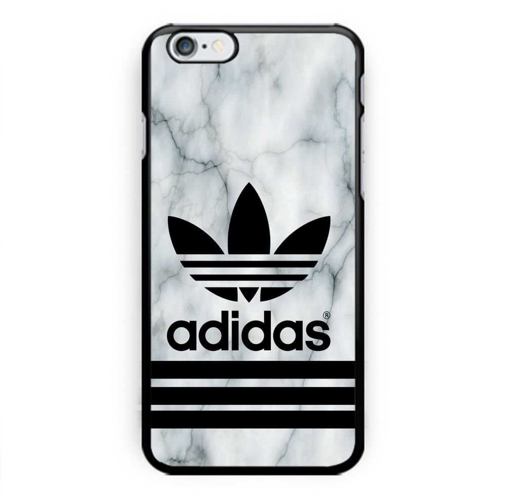 adidas logo white marble print hard plastic for iphone 7 6 \u0026 6s rare