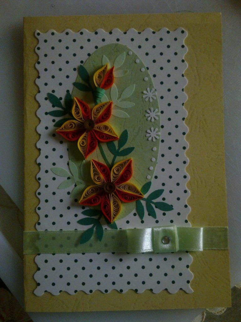 Quilled Greeting Card Papel Pinterest Quilling
