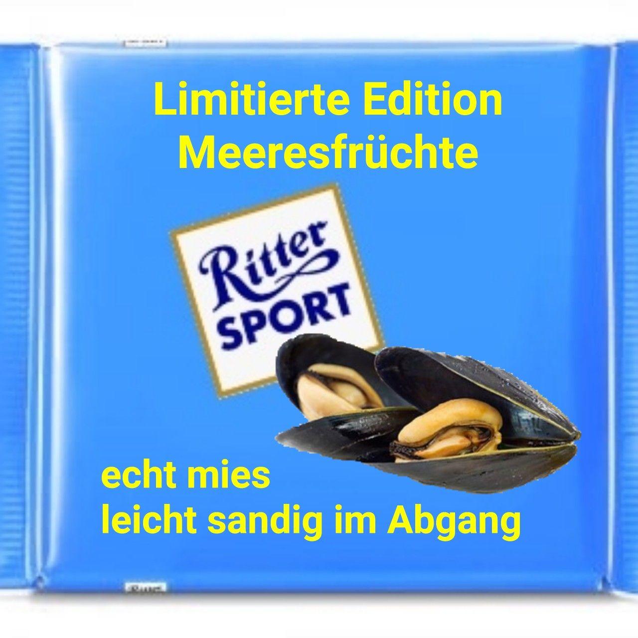 Photo of Ritter Sport lustige lustige Sprüche Bild Bilder. Muscheln Meeresfrüchte