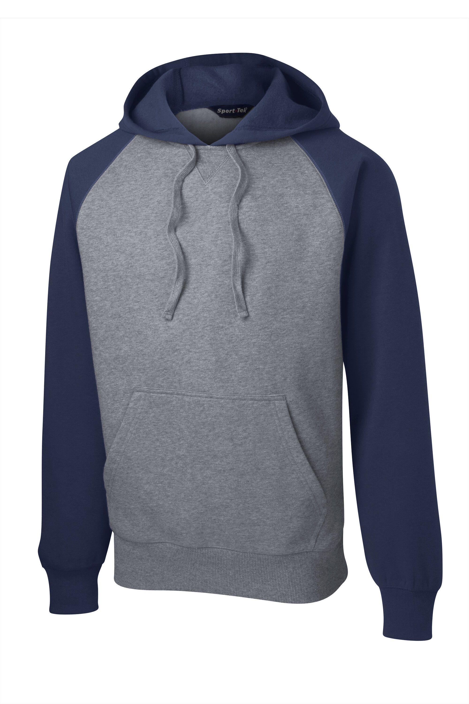 456594d005f Sport-Tek Mens Raglan Colorblock Hooded Sweatshirt Hoodie ST267 ...