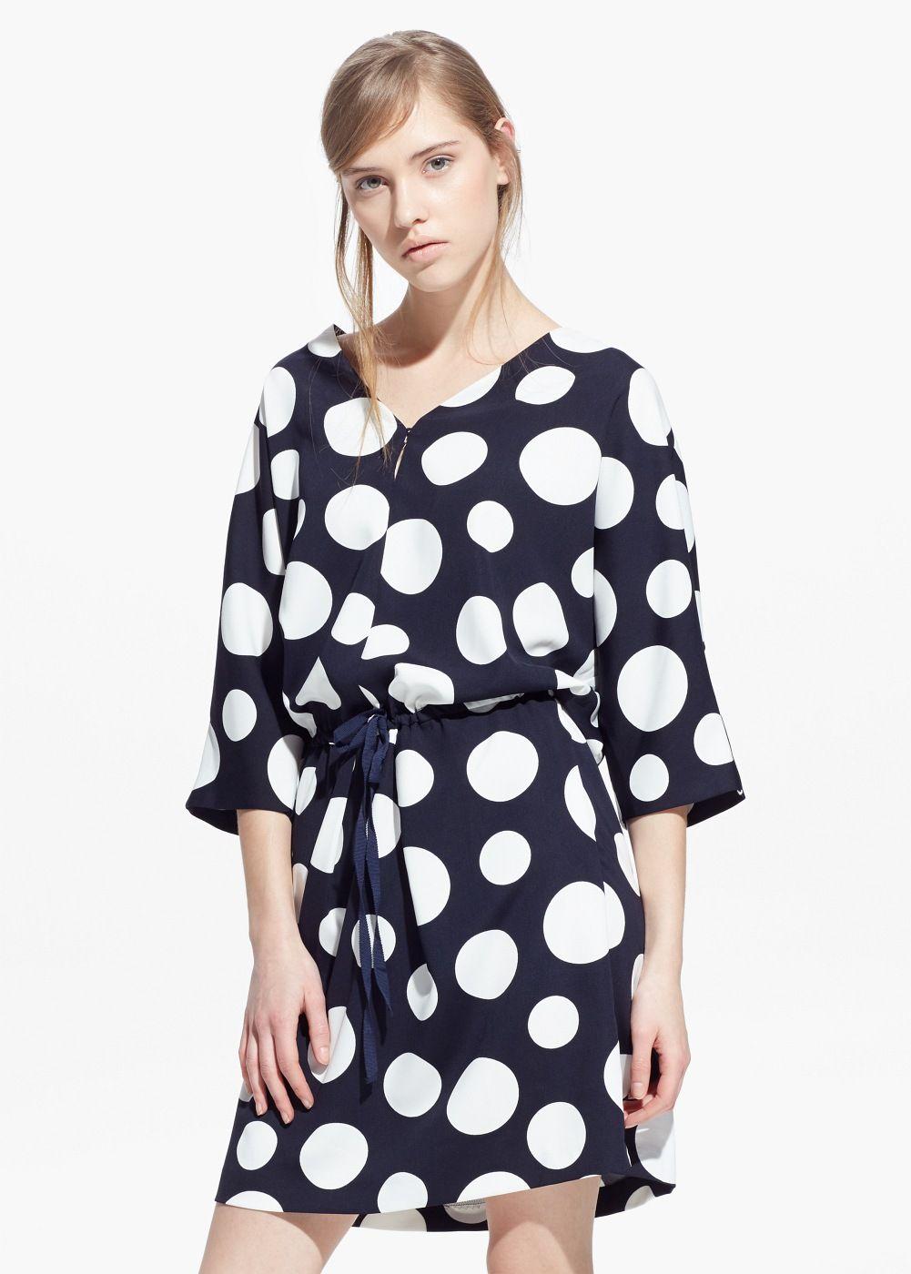 Vestido lunares mujer