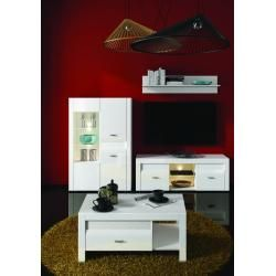 Photo of Living room complete – Set D lifter, 4 pieces, color: white / white gloss Steinersteiner