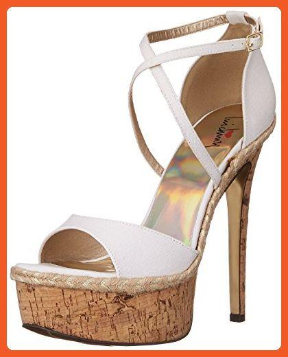 ca18ed85e9155 Luichiny Women's Le Andra Platform Sandal, White, 10 M US - Sandals ...