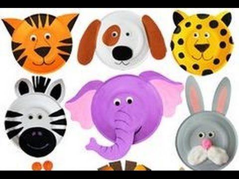 Animales lindos con platos de papel manualidades de - Platos faciles de hacer ...