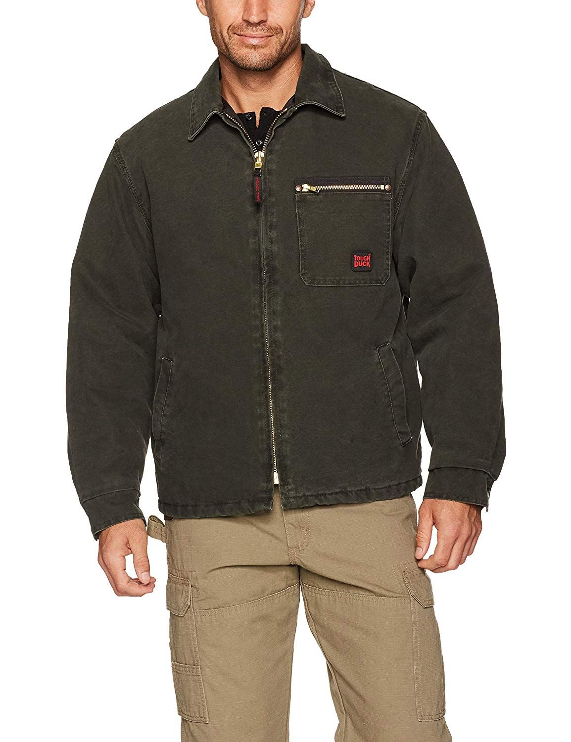 Tough Duck Washed Chore Jacket Chore jacket, Brown