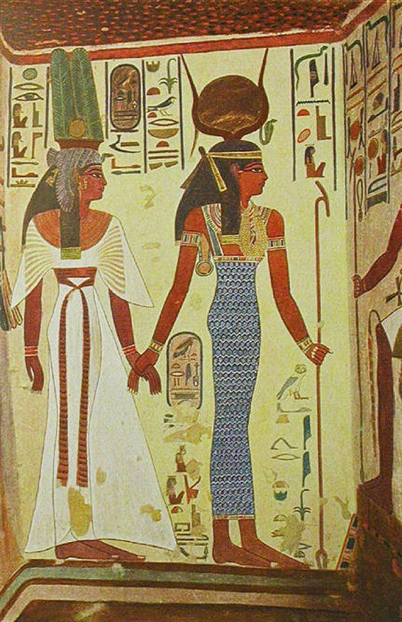 Isis Introduces Queen Nefertari To Osiris, God Of The Dead