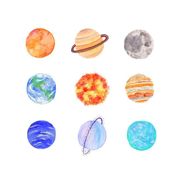 Gallery For Planets Drawing Tumblr Liked On Polyvore Featuring