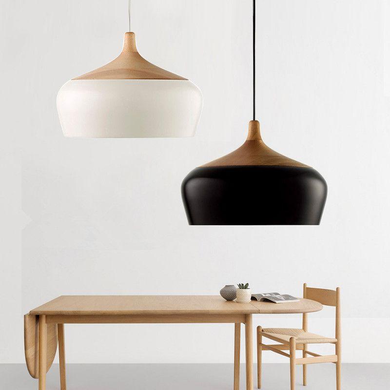 Goedkope Moderne Hanglampen Hout Zwart Hanglamp Voor Keuken Eetkamer ...
