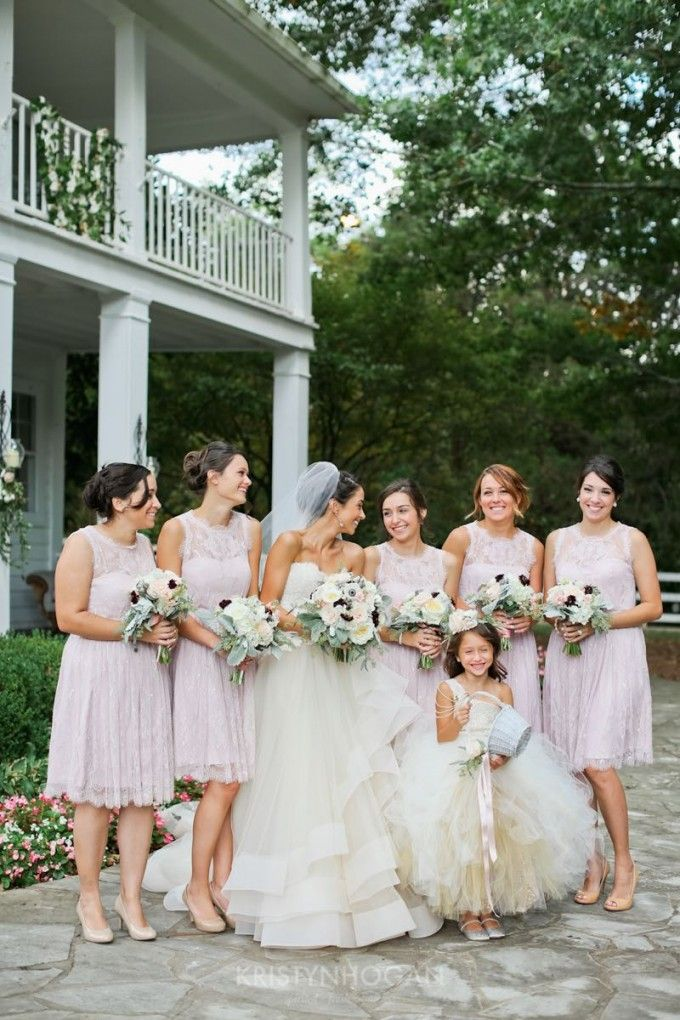 Bridesmaids In Blush Compliment The Bride Perfectly An American Fairytale Mayra Kevin Part 1