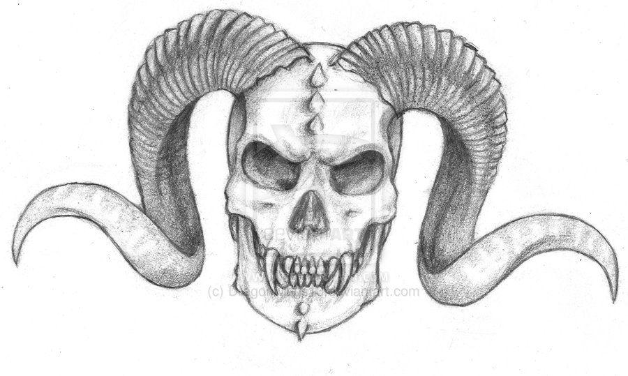 Demon Skull By Dragonwings13 Deviantart Com On Deviantart With