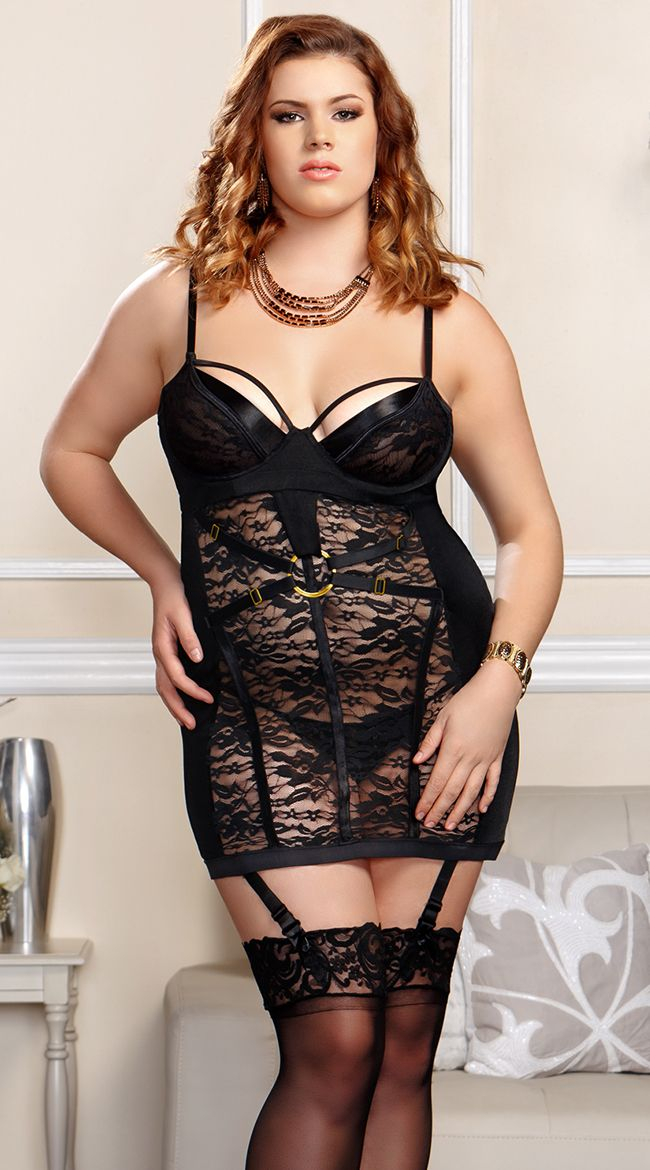 Plus size bondage wear