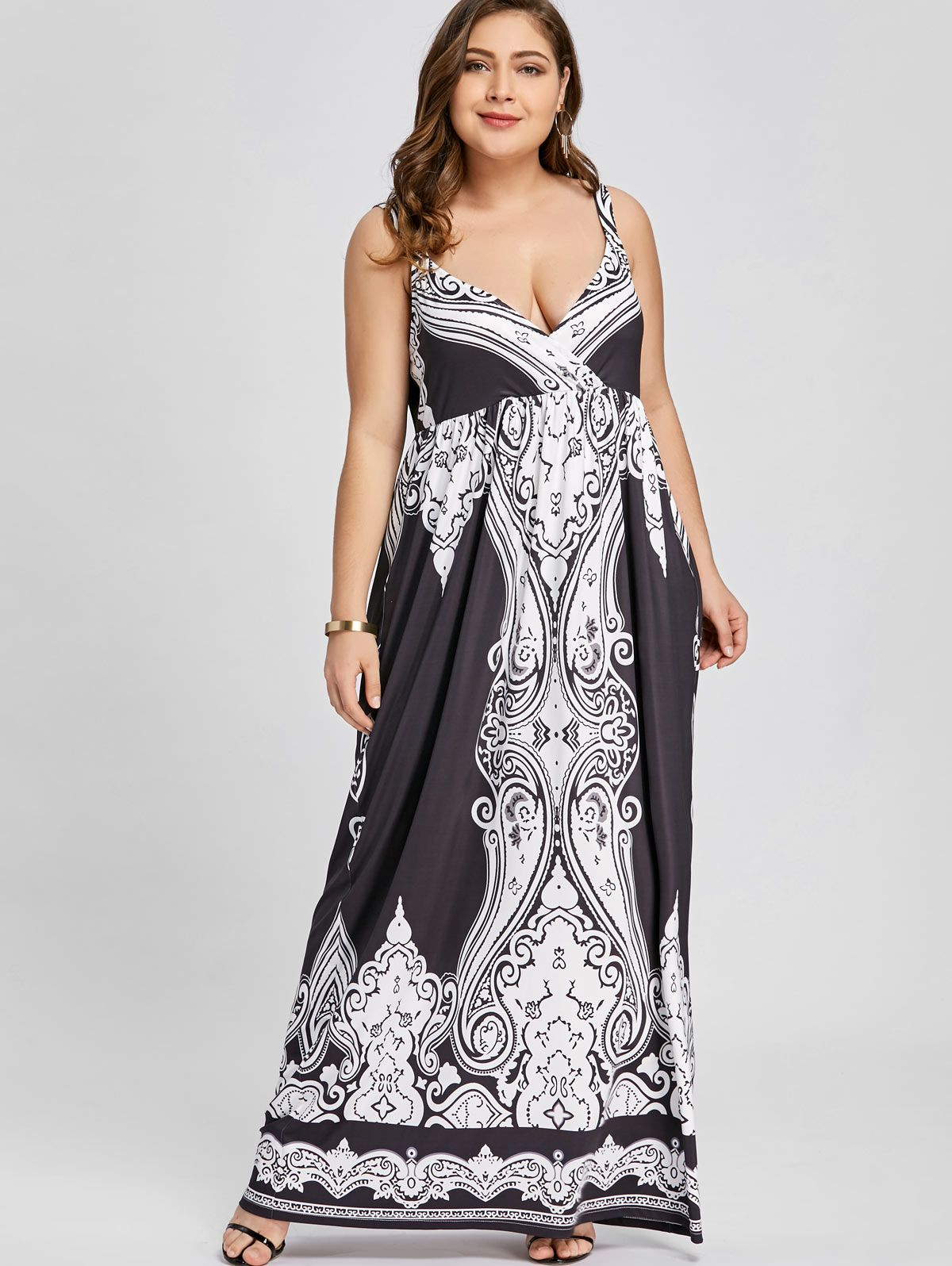 b00ddc441d4 Up to 70% off.Free shipping worldwide.Arab Print Plus Size Sleeveless Maxi
