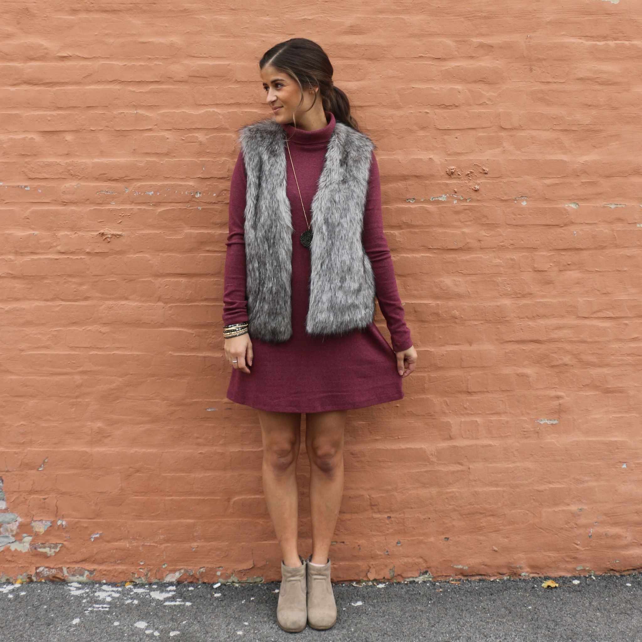 Red flannel vest womens  The Red Wine Dress is perfect for those cool fall days Add a fun