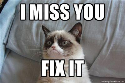 I Miss You Fix It Grumpy Cat Ii Grumpy Cat Grumpy Cat Valentines Grumpy Cat Humor