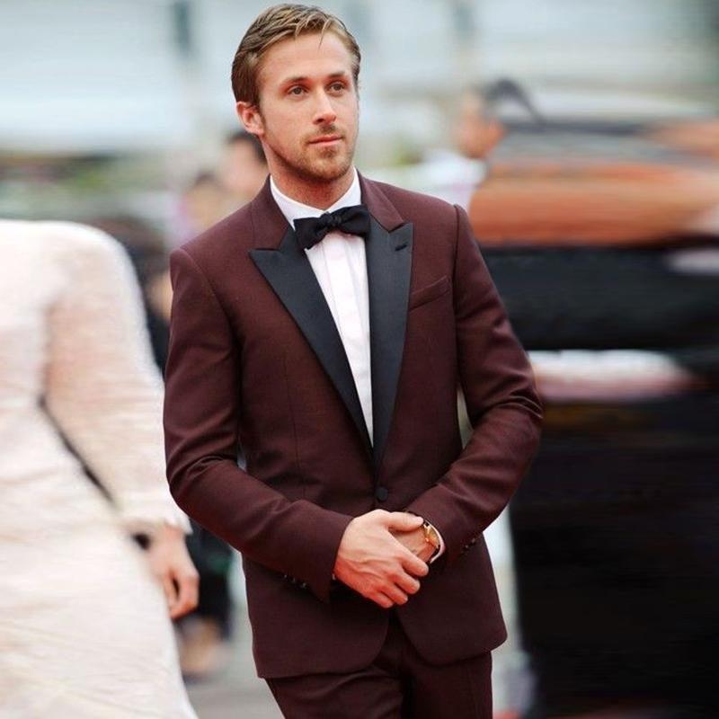 Suit | Burgundy tuxedo jacket