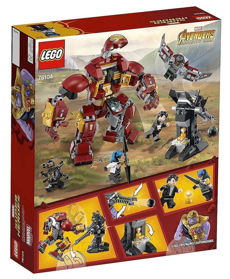 Avengers Infinity War Lego Sets May Reveal Some Potential Spoilers Lego Marvel Super Heroes Lego Marvel Hulkbuster