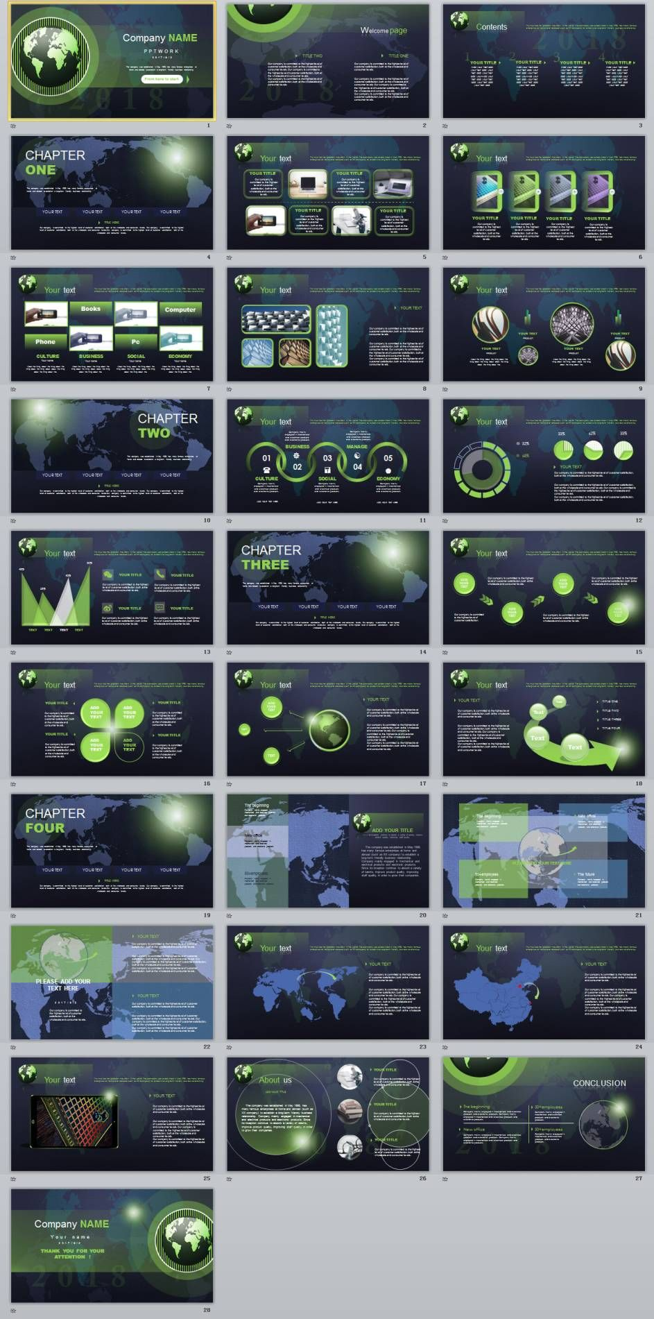 28 company cool introduction powerpoint template presentation