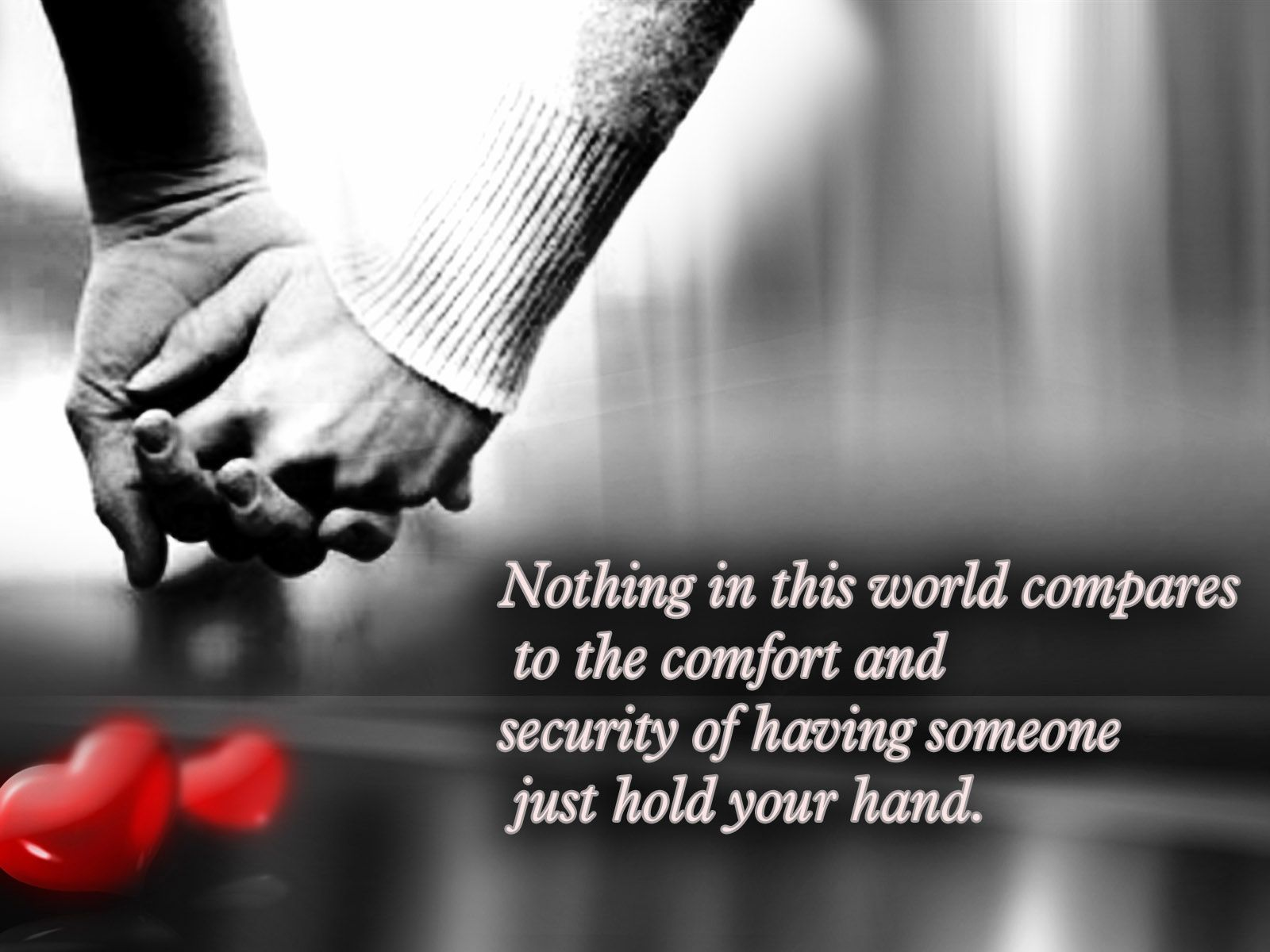 Romance · Love Quotes Hands Couple Wallpaper