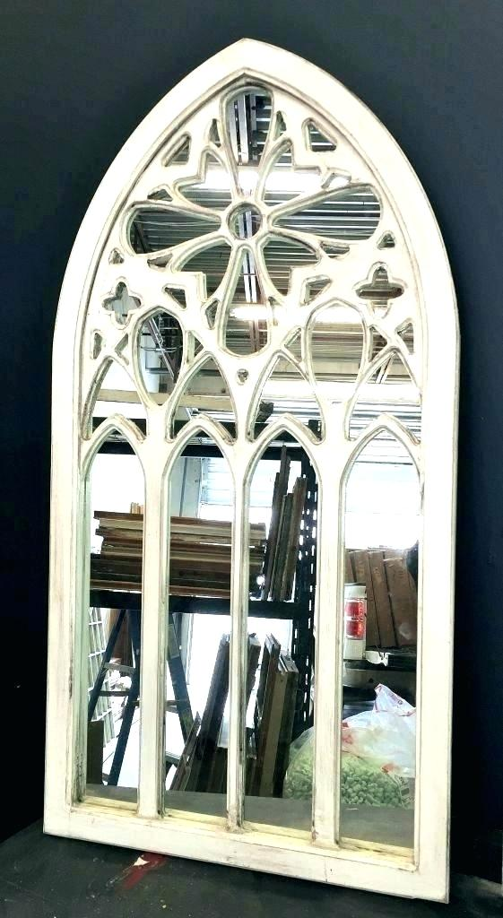 Arched Window Mirror Wall Decor Frame Cathedral Beautiful White Pane Hobby Lobby Wand Dekor Spiegel Lobby