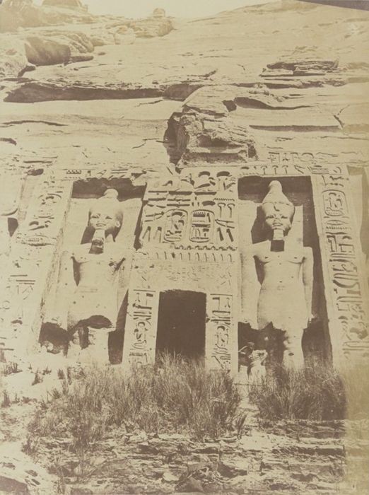 1849 1850 Ibsamboul Porte Du Speos D Hathor Photographe Maxime Du Camp Egypte Egypte Ancienne Egypte Antique
