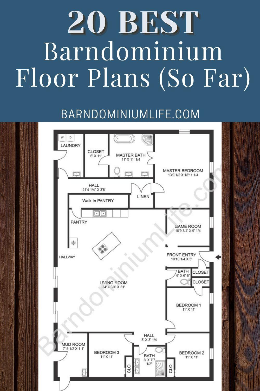 20 Best Barndominium Floor Plans In 2020 Barndominium Floor Plans Barn Homes Floor Plans Diy House Plans