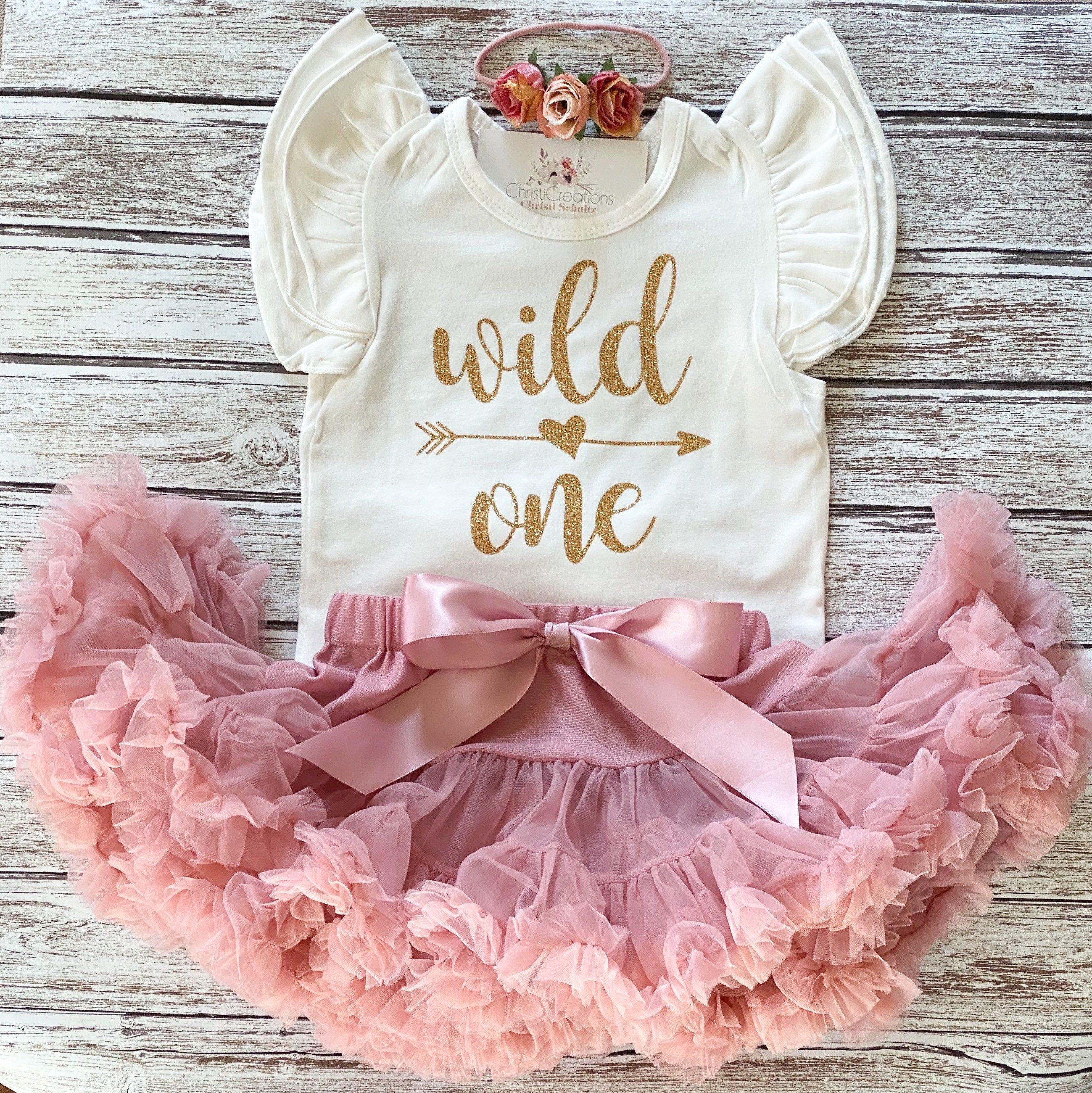 Girl Multiple Color Variations Available Girl 1st Birthday Outfit