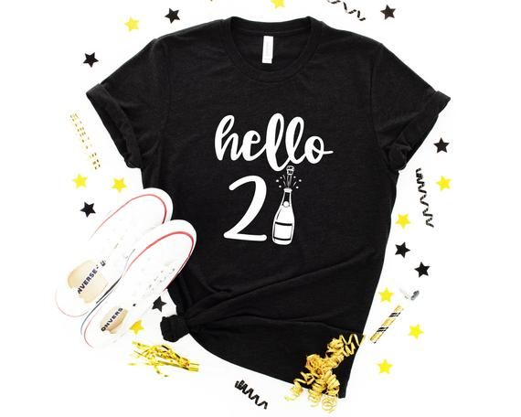 Hello 21 Shirt - New Year Shirt - New Years 2021 S