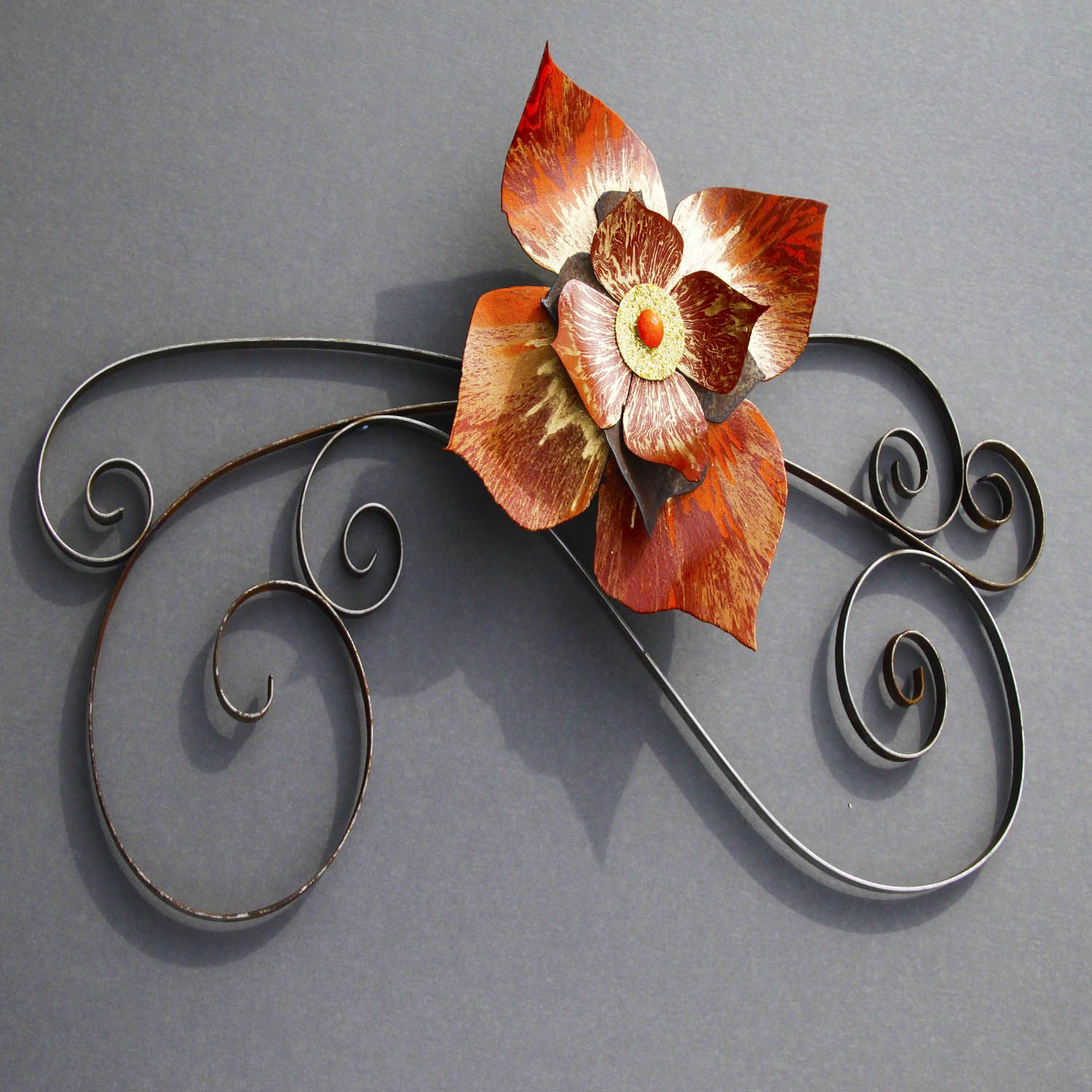 Metal garden art flower by Richard Arfsten