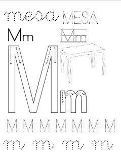 Conozcamos La Letra M Mayúscula Y Minúscula Consonantes