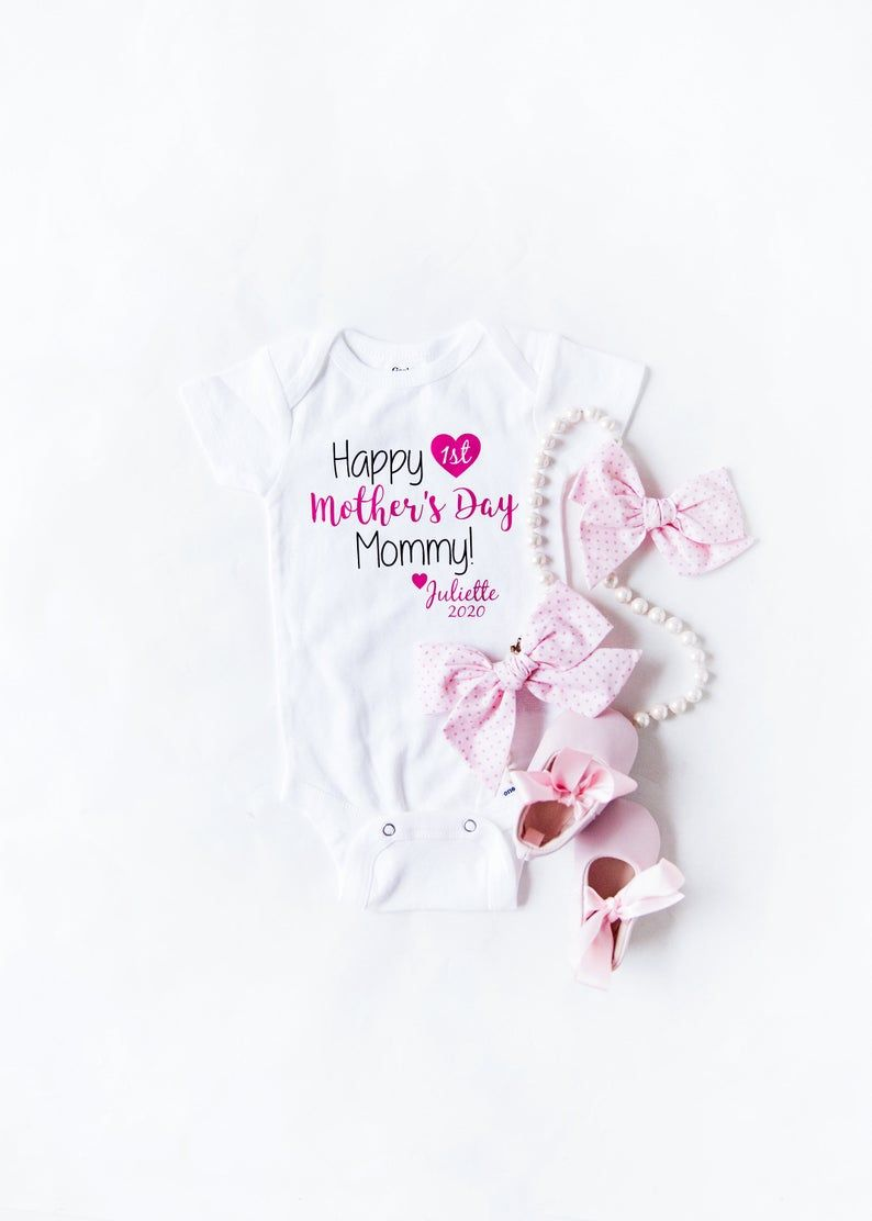 Baby girl onesie first mothers day mothers day gift from