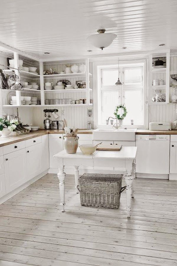 Ideas deco como decorar cocinas blancas estilo romantico for Ideas deco estilo