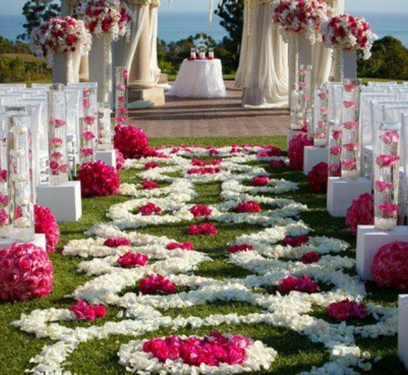 Romantic Garden Wedding Ideas In Bloom: Outdoor Aisle Decorations