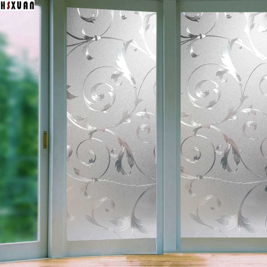 Window Privacy Films PVC Premium NoGlue D Flower Static Kitchen - Window stickers for home privacy