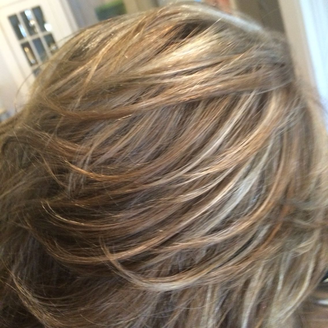 Caramel ,highlights and light brown weaved all together