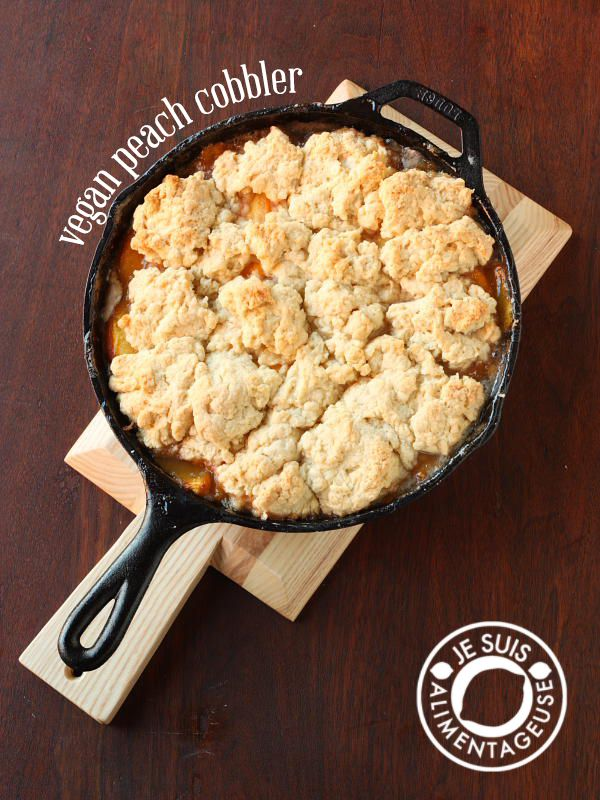 Vegan Peach Cobbler #peachcobblercheesecake