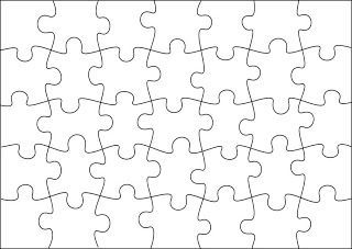 Free jigsaw puzzle templates printable and in different for Jigsaw puzzle template for word