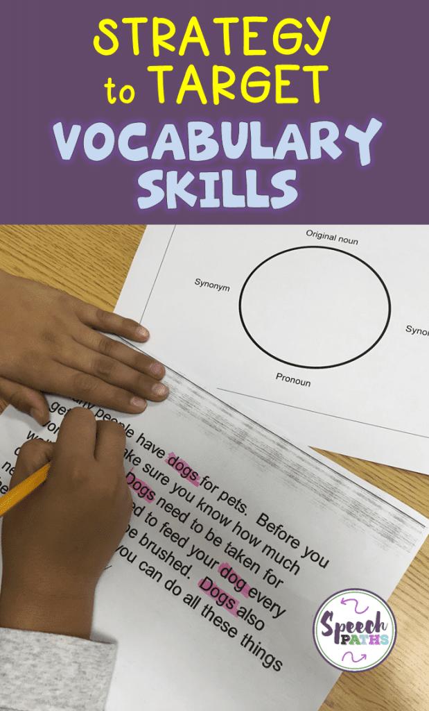 Speech Therapy Activity to Build Vocabulary Skills
