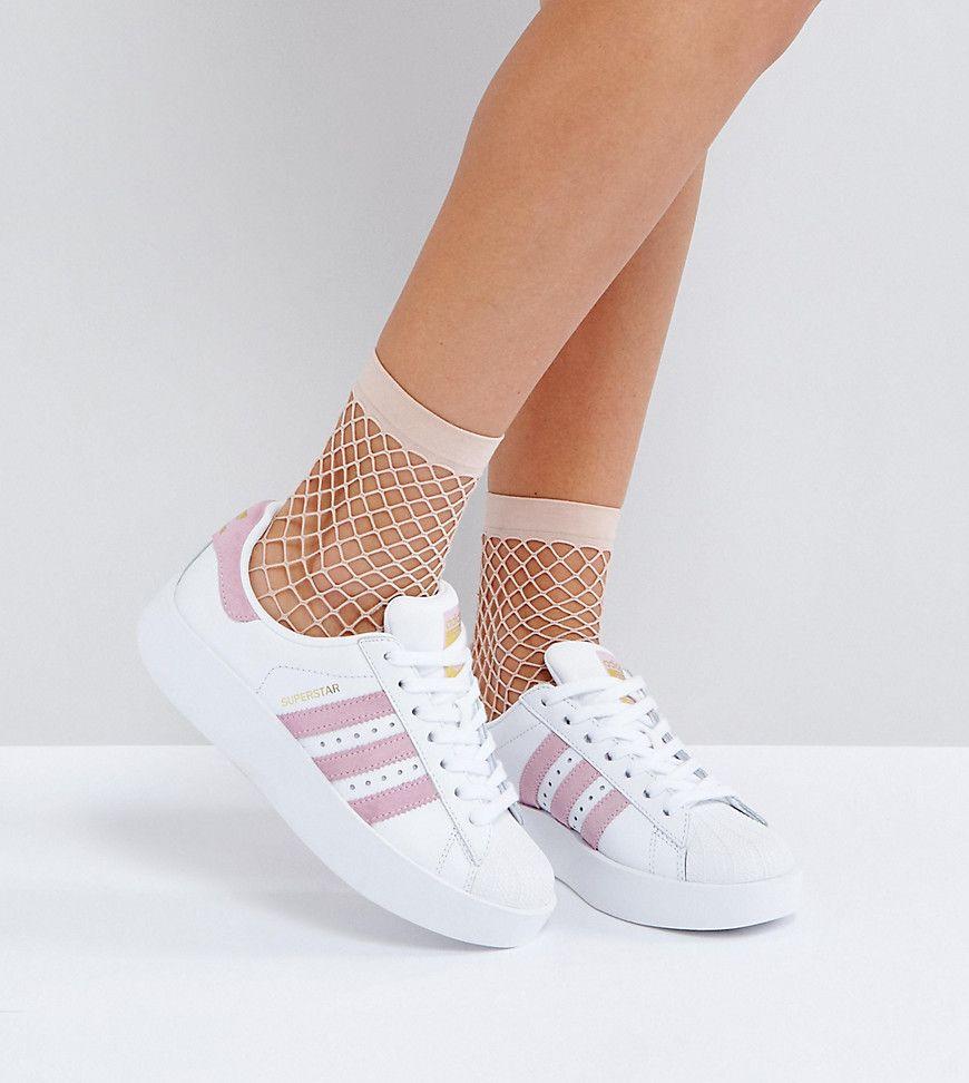 adidas superstar blanco y rosa