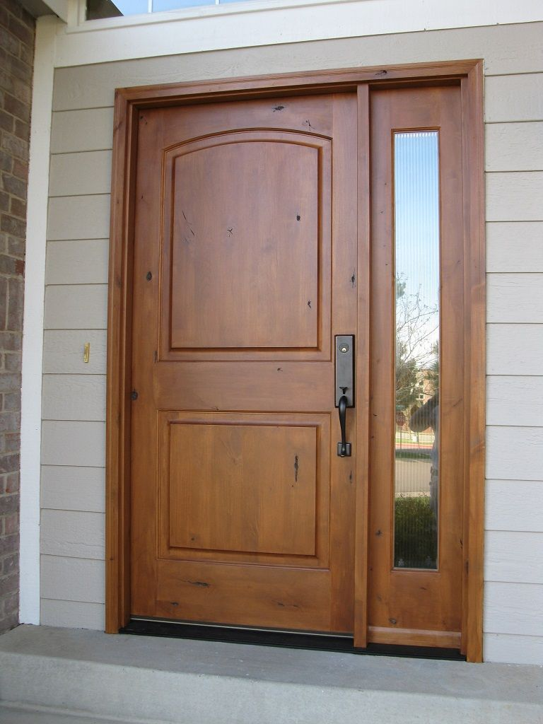 FurniturePretty Teak Wooden Single Modern Big Front Door With 2